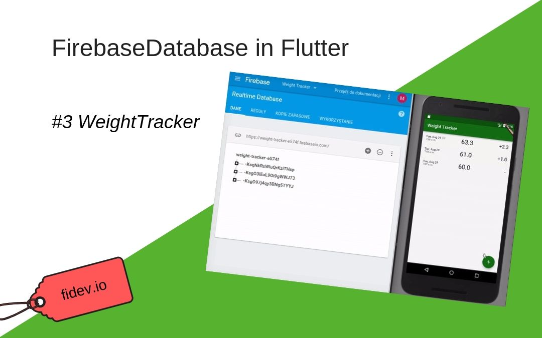 Firebase Database in Flutter - WeightTracker 3 - Fidev