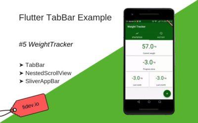 Line Chart in Flutter – WeightTracker 6