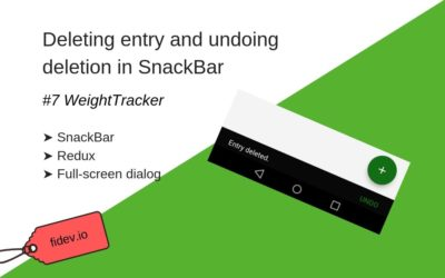 Deleting entry and undoing deletion in snackbar – WeightTracker 7