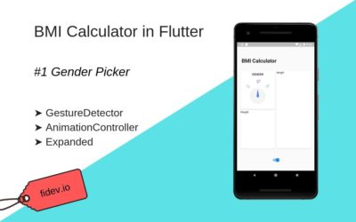 BMI Calculator in Flutter – part 1 – Gender