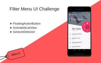 Filter Menu – UI Challenge