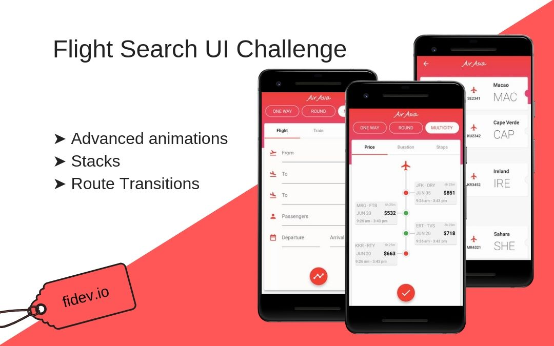 UI Challenge - Flight Search - Fidev
