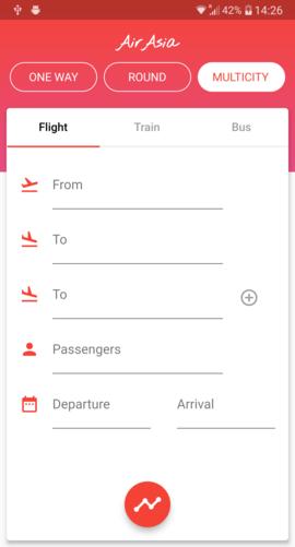 UI Challenge - Flight Search - Fidev