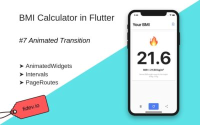 BMI Calculator in Flutter – Part 7 – Animated transition