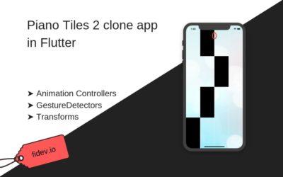 UI Challenge: Piano Tiles clone in Flutter