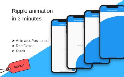 How to make ripple page transition in 3 minutes using Flutter