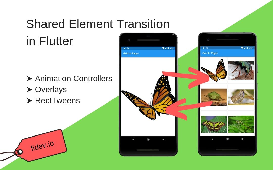 Shared Element Transition in Flutter - Fidev