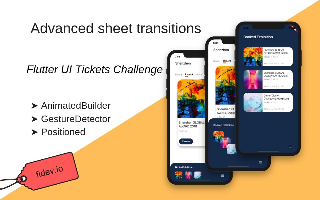 Advanced transitions - UI Tickets Challenge - Fidev