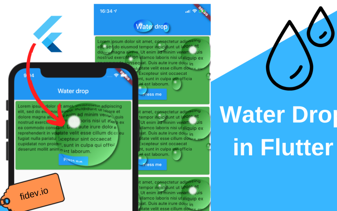 Water Drop effect in Flutter